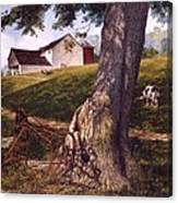 Hay Fork Canvas Print