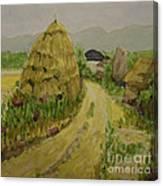Hay Stack Canvas Print