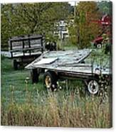 Hay Wagons Canvas Print