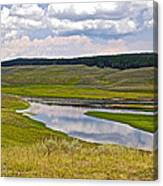 Hayden Valley In Yellowstone National Park-wyoming Canvas Print