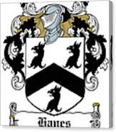 Hayes Coat Of Arms Donegal Ireland Canvas Print