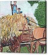 Haying Circa 1920 Canvas Print