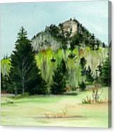 Haystack Mountain Castle Hill Me Canvas Print