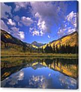 Haystack Mountain Reflected In Beaver Pond Canvas Print