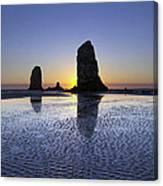 Haystack Needles Rocks At Cannon Beach Canvas Print