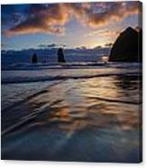 Haystack Rock And The Needles Canvas Print