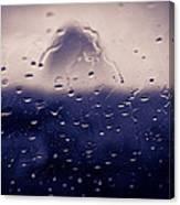 Haystack Rock Rain Canvas Print