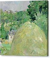 Haystacks At Bougival Canvas Print