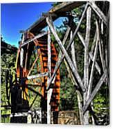 Haywood Cc Grist Mill Wheel Canvas Print