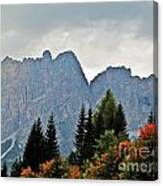 Haze And The Dolomites Canvas Print
