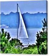 Hazy Day Sail Canvas Print
