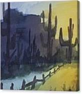 Hazy Mesas Canvas Print