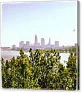 Hazy Summer Afternoon At The Lake Canvas Print