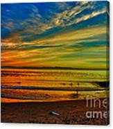 hd 329 Surfboard In The Sand-edted version Canvas Print