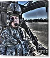 Hdr Image Of A Pilot Equipped Canvas Print