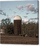 Hdr Image The Farmers Silo Canvas Print