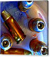 Bullet Art - Hdr Photography Of .32 Caliber Hollow Point Bullets Art 4 Canvas Print