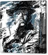 He Calls It Home - Blue Canvas Print