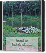 He Leads Me Beside The Still Waters Canvas Print