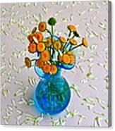 He Loves Me Bouquet Canvas Print