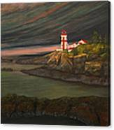 Head Harbour East Quoddy Light Canvas Print