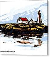 Head Harbour Lighthouse - Field Sketch Canvas Print