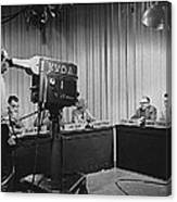 Head Of Production Lowell Cable Cameraman Panel  Kvoa Tv Circa 1955 Color Added 2013 Canvas Print