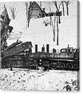 Head On Train Wreck Canvas Print