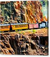 Headed Up The Grade Canvas Print