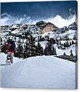 Heading For The Peak Canvas Print