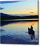 Heading Out At Sunset Canvas Print