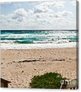 Heading To The Beach Manalapan Florida Canvas Print