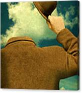 Headless Man With Bowler Hat Canvas Print