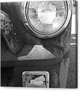 Headlight Of The Past Canvas Print