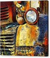 Headlight On A Retired Relic Abstract Canvas Print