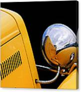 Headlight Reflections In A 32 Ford Deuce Coupe Canvas Print