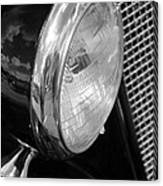 headlight205 BW Canvas Print
