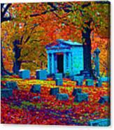 Headstone Fall Canvas Print
