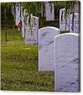 Headstones Of Arlington Cemetery Canvas Print
