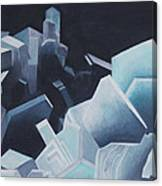 Healing Blue Crystals Canvas Print