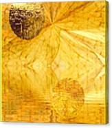 Healing In Golden World Canvas Print