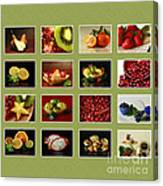 Healthy International Fruits Collection Canvas Print