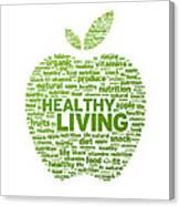 Healthy Living Apple Illustration Canvas Print