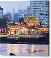 Hean Boo Thean Temple At Blue Hour Canvas Print