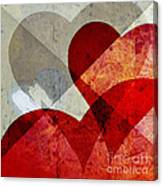 Hearts 8 Square Canvas Print