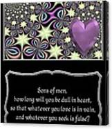 Heart And Love Design 14 With Bible Quote Canvas Print
