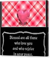 Heart And Love Design 15 With Bible Quote Canvas Print