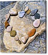Heart And Stones  Canvas Print