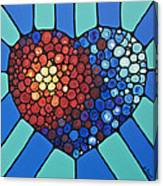 Heart Art - Love Conquers All 2  Canvas Print