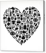 Heart Food & Drink Royalty Free Vector Canvas Print